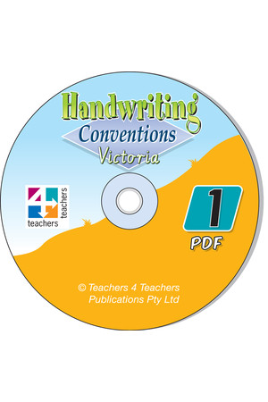 Handwriting Conventions - VIC: PDF CD (Year 1)