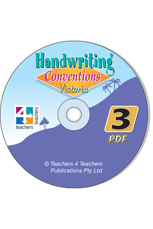 Handwriting Conventions - VIC: PDF CD (Year 3)