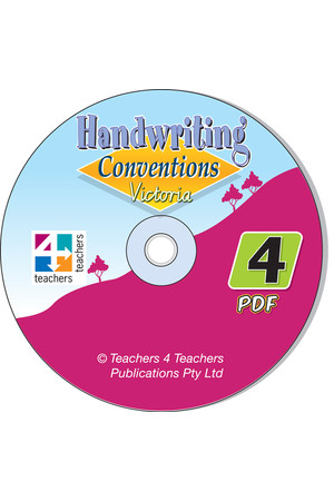 Handwriting Conventions - VIC: PDF CD (Year 4)