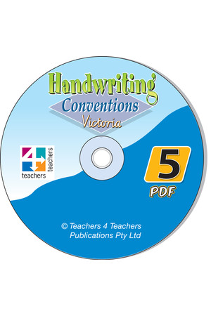 Handwriting Conventions - VIC: PDF CD (Year 5)