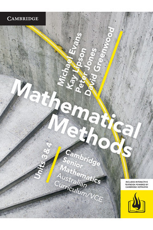 Cambridge Senior Mathematics: VCE - Mathematical Methods (Units 3&4): Student Textbook (Print & Digital)