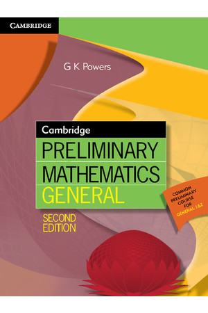 Cambridge Preliminary - Mathematics General (2nd Edition): Student Book (Print & Digital)