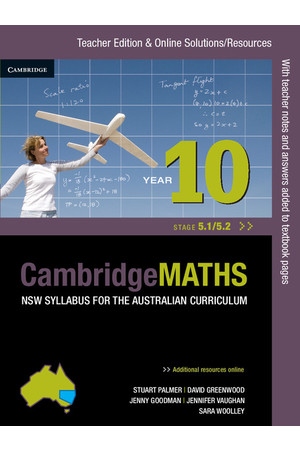CambridgeMATHS - NSW Syllabus for the AC: Year 10 (Stage 5.1/5.2) - Teacher Edition (Print)