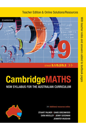 CambridgeMATHS - NSW Syllabus for the AC: Year 9 (Stage 5.1/5.2/5.3) - Teacher Edition (Print)