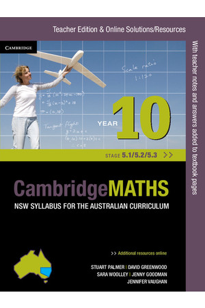 CambridgeMATHS - NSW Syllabus for the AC: Year 10 (Stage 5.1/5.2/5.3) - Teacher Edition (Print)