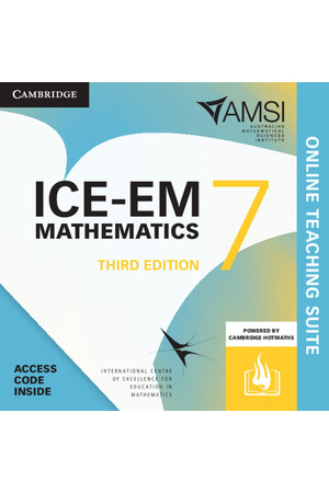 ICE-EM Mathematics for the Australian Curriculum - Third Edition: Year 7 Online Teaching Suite (Digital Access Only)