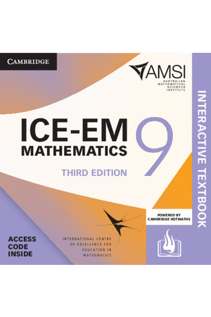 ICE-EM Mathematics for the Australian Curriculum - Third Edition: Year 9 + HOTmaths (Digital Access Only)