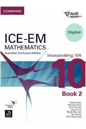 ICE-EM - Mathematics Australian Curriculum Edition: Year 10 (Incorporating 10A) - Book 2 (Digital Only)