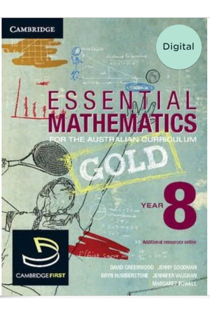 Essential Mathematics GOLD for the AC - Year 8: Student Book (Digital Access Only)
