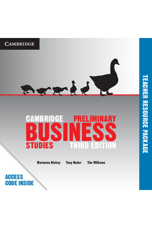Cambridge Preliminary - Business Studies (3rd Edition): Teacher Resource Package (Digital Access Only)