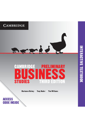 Cambridge Preliminary - Business Studies (3rd Edition): Student Book (Digital Access Only)