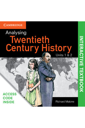 Analysing 20th Century History - Units 1&2 (Digital Access Only)