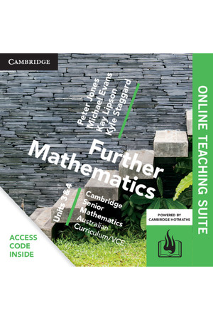 Cambridge Senior Mathematics: VCE - Further Mathematics (Units 3&4): Online Teacher Suite (Digital Access Only)