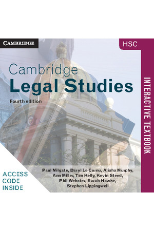 Cambridge HSC Legal Studies - 4th Edition: Student Book (Digital Access Only)