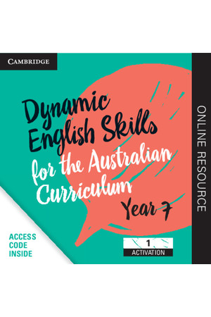 Dynamic English Skills for the AC - Year 7: Student Edition (Digital Access Only)