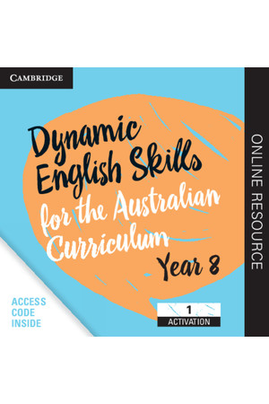Dynamic English Skills for the AC - Year 8: Student Edition (Digital Access Only)