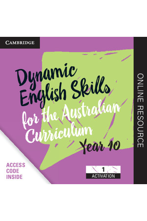 Dynamic English Skills for the AC - Year 10: Student Edition (Digital Access Only)
