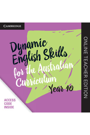Dynamic English Skills for the AC - Year 10: Teacher Edition (Digital Access Only)
