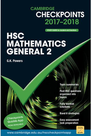Cambridge Checkpoints HSC - Mathematics General 2 (2017-2018)