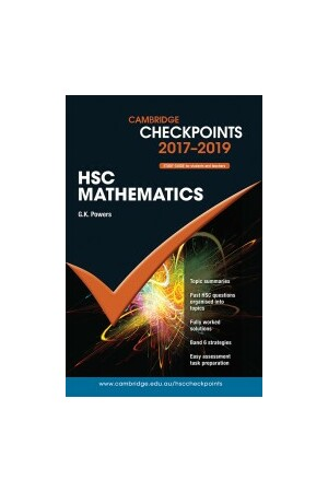 Cambridge Checkpoints HSC - Mathematics (2017-2018)