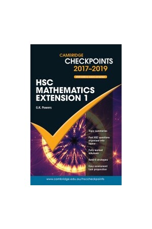 Cambridge Checkpoints HSC - Mathematics Extension 1 (2017-2018)