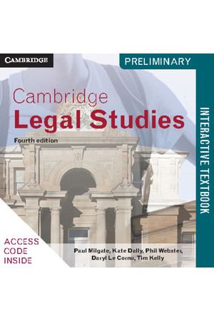 Cambridge Preliminary - Legal Studies (4th Edition): Student Book (Digital Access Only)