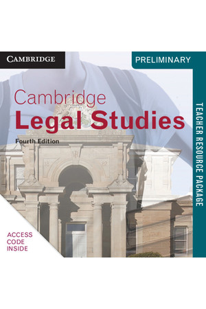 Cambridge Preliminary - Legal Studies (4th Edition): Teacher Resource Package (Digital Access Only)