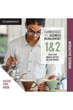 Cambridge VCE Business Management - Units 1&2: Student Book (Digital Access Only)
