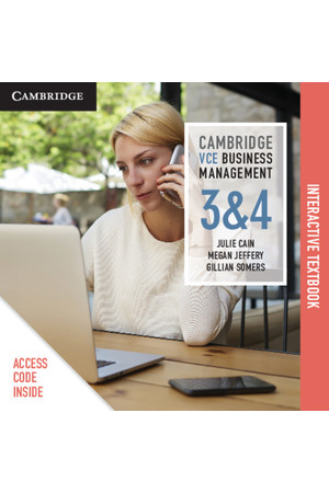 Cambridge VCE Business Management - Units 3&4: Student Book (Digital Access Only)