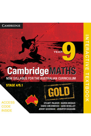 CambridgeMATHS GOLD - NSW Syllabus for the AC: Year 9 - Student Book (Digital Access Only)