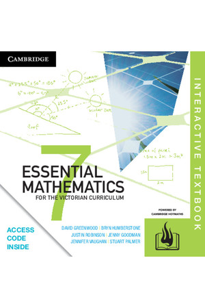 Essential Mathematics for the VIC Curriculum - Year 7: Student Book (Digital Access Only)