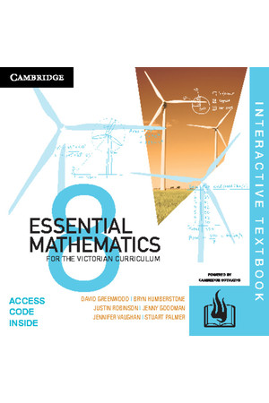 Essential Mathematics for the VIC Curriculum - Year 8: Student Book (Digital Access Only)