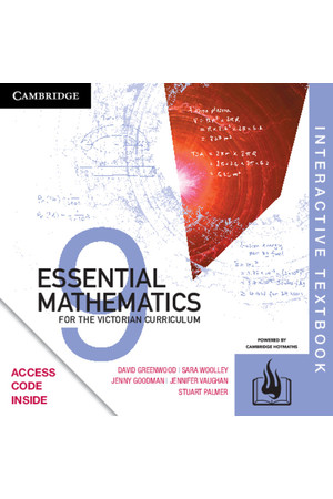 Essential Mathematics for the VIC Curriculum - Year 9: Student Book (Digital Access Only)