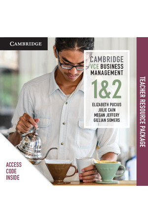 Cambridge VCE Business Management - Units 1&2: Teacher Resource Package (Digital Access Only)