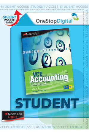 VCE Accounting: Units 3&4 - Fifth Edition (Digital Access Only)