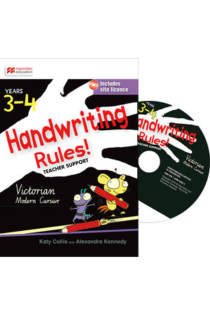 Handwriting Rules! - Victorian Modern Cursive: Teacher Support CD (3-4)