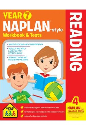 School Zone NAPLAN-Style Workbook and Tests - Year 7: Reading