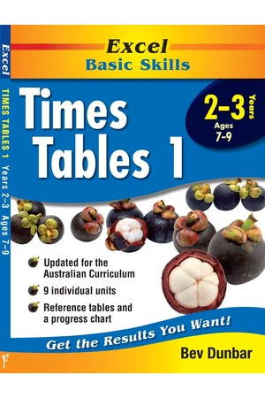 Excel Basic Skills - Times Tables 1: Years 2-3