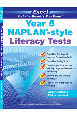 Excel - NAPLAN* Style Literacy Test: Year 5