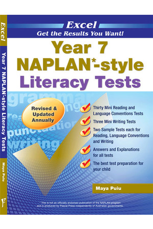 Excel - NAPLAN* Style Literacy Test: Year 7