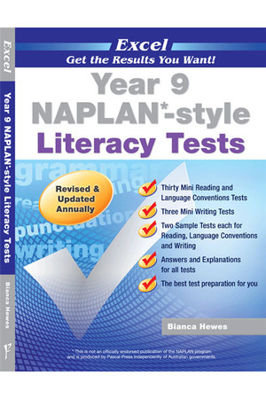 Excel - NAPLAN* Style Literacy Test: Year 9