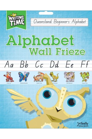Writing Time - Alphabet Wall Frieze: QLD Beginner's Alphabet Font