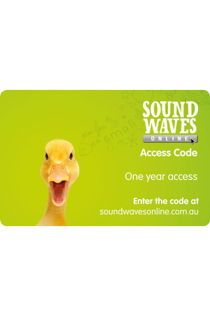 Sound Waves - Online Access Card