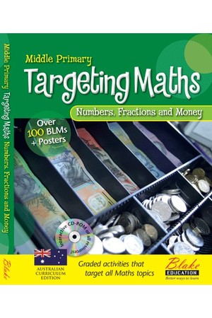 Targeting Maths - Teacher Resource Books: Middle Primary - Numbers, Fractions and Money