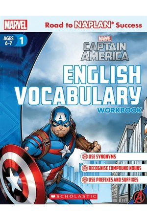 Road to NAPLAN Success: Level 1 - Captain America English Vocabulary Workbook