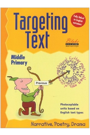 Targeting Text - Middle Primary: Book 1 - Narrative, Poetry and Drama