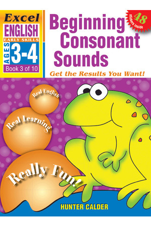 Excel Early Skills - English: Book 3 - Beginning Consonant Sounds