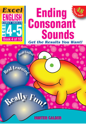 Excel Early Skills - English: Book 4 - Ending Consonant Sounds