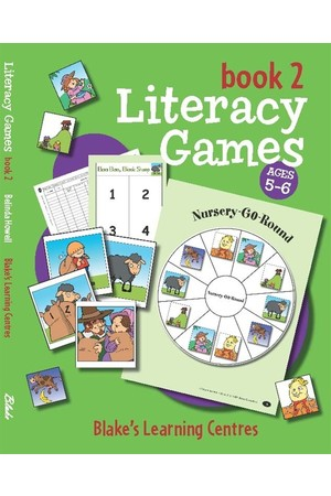 Blake's Learning Centres - Literacy Games: Book 2 (Ages 5-6)