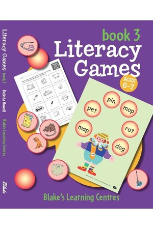 Blake's Learning Centres - Literacy Games - Book 3 (Ages 6-7)